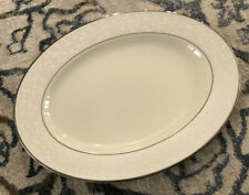 Used Lenox China Pearl Innocence Small Oval Serving Platter 13""