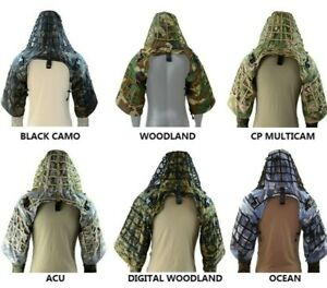 New Camouflage Sniper Coat Viper Hood Ghillie Suit Made From Ripstop Fabric