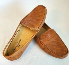 Massimo Mateo Shoes, Leather Croc Driving Loafer S:9