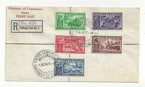 New Zealand 1936 Chamber of Commerce Registered FDC Cover