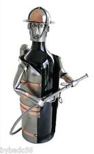 H&K Sculptures Fireman Wine Bottle Holder