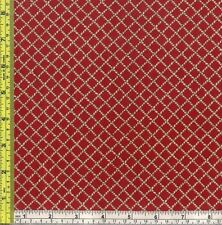 Cowboy Lasso Rope Net Red Cotton Quilt Sewing Material 1 yard off bolt