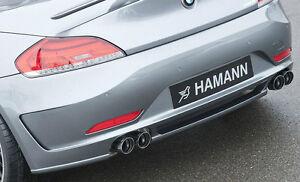 BMW E89 Z4 2009+ Hamann OEM Sport Rear Muffler Quad Exhaust 76mm Tips OEM New