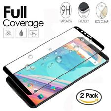 2 X OnePlus 5T Full Cover Curved 5D Toughened Tempered Glass Screen Protector