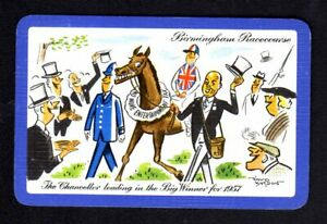Vintage Swap/Playing Card - Birmingham Racecourse Humour signed