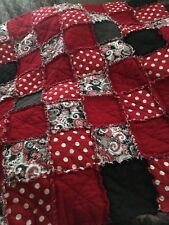Throw Size Rag Quilt Handmade,New,you Choose Colors, Deposit Only