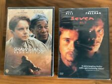Seven and The Shawshank Redemption 2 New Dvd's Movies with Morgan Freeman