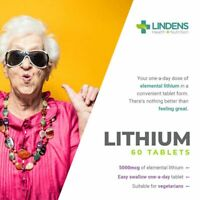 Lithium 5mg Tablets 60 pack from Orotate helps Mood Depression and Anxiety