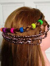 6 Hair Beads Marley Ring Dreadlock Comb Pin Scrunchie Plait loc Raggae clip punk