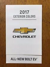 2017 Chevrolet All New Bolt EV exterior color chart catalog brochure