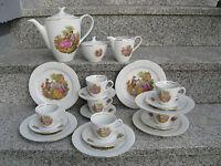 SERVICE à CAFE COMPLET 6 PERSONNES  Porcelaine FRAGONARDS filet or