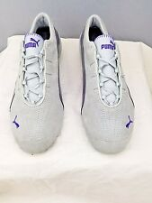 PUMA Shoes Soleil V2 Womens Size 10W Gray Leather Purple Stripes