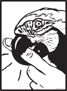"""Caution! Parrot Bites Fingers Aluminum Bird Sign - 9"""" x 12"""""""