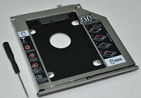 SATA 2nd HDD SSD Hard Drive Caddy Adapter for HP EliteBook 2560p 2570p + Bezel