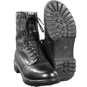 BRITISH ARMY BLACK GORETEX PRO COMBAT BOOTS - GRADE 1 - WORKING - CADETS - USED