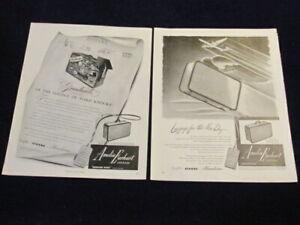 Vintage Original 1947 Amelia Earhart Luggage Ad Lot of 2 Suitcase Qa83