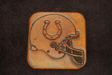 Indianapolis Colts Hand Embossed Leather Coasters (Set of 4)