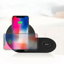 2in1 Qi Wireless Charger Pad Charging Station For Apple Watch iPhoneX Samsung