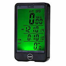 WIRELESS LCD WATERPROOF CYCLE BIKE BICYCLE COMPUTER SPEEDOMETER SPEEDOTOUCH