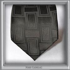 Black Jacquard Handmade Silk Necktie Groom Formal Tie Linear Woven Pattern