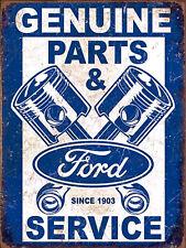 Genuine Ford Retro metal Aluminium Sign vintage / man cave / garage / Shed Gift