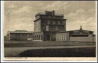 CHEMNITZ Sachsen 1928 FLUGHAFEN Gebäude Airport Dt. Reich Bedarfspost-AK gel.