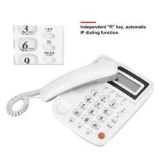 Corded Telephone Caller ID Home Hotel Desktop Wall Mount Landline Handset Phone