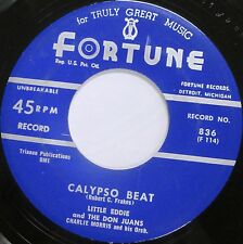 LITTLE EDDIE THE DON JUANS This Is A Miracle 45 FORTUNE 836 EX MINT- DOO-WOP R&B