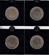 Belgio 2 euro 2002 a 2005-Lot corso monete Banca freschi