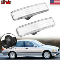 Pair Clear Turn Indicator Side Marker Lights Shell Cover For BMW E39 1997-2003