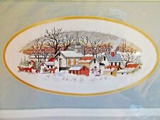 Needle Treasures After Church Cross Stitch Kit 02644 Winter Snow Rural Town