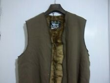 BARBOUR A295 C40 102CM Pile Lining Faux Fur Acrylic Liner Gilet for Wax Jacket