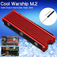 M.2 NVME Aluminum Heatsink NGFF PCI-E 2280 SSD Cooling Fin Cooler W/ Thermal Pad