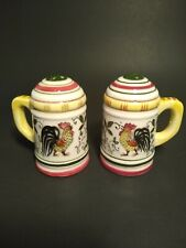 Vintage Rooster Salt & Pepper Shakers