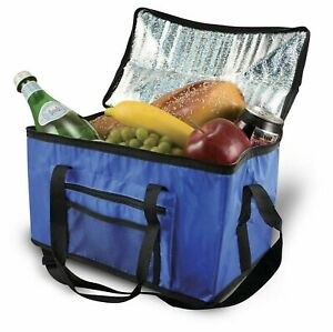 EXTRA LARGE 26 LITRE 48 CAN INSULATED COOLER COOL BAG COLLAPSIBLE PICNIC CAMPING