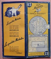 #) carte MICHELIN 83 CARCASSONNE - NIMES 1951