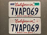 CALIFORNIA LICENSE PLATE PAIR/SET  DMV.CA.GOV RANDOM LETTERS/NUMBERS