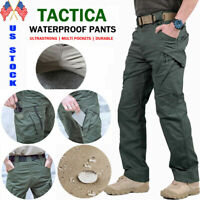 New Soldier Tactical Waterproof Trousers Men Cargo Pants Combat Hiking Outdoor