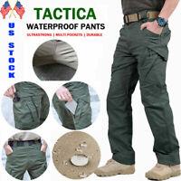 Soldier Tactical Waterproof Pants Mens Cargo Work Trousers Combat Hiking Outdoor