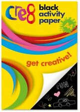 60 Sheets Black Activity Drawing Pad Papers Kids Craft Children School Fun