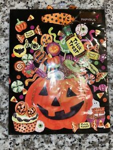 Papyrus Halloween Gift Bag - Pumpkin Full of Treats & Candy