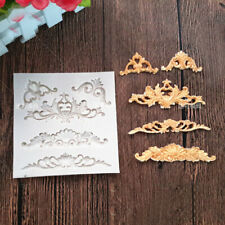 Vintage Relief Lace Baroque Silicone Fondant Mould Cake Decor Craft Border Mold