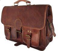 groß Herren Leder Tasche Handtasche Schultertasche Umhängetasche Laptoptasche