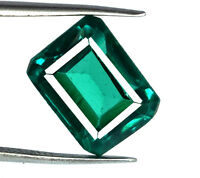 Zambian Green Emerald 8-9 Ct Loose Gemstone Natural Emerald Cut AGSL Certified