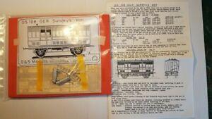 D&S Models GER Sundries Van etch brass kit