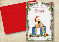 1 PERSONALISED BOOFLE CHRISTMAS GREETING CARD SON,DAUGHTER,MUM ANY RELATIVE