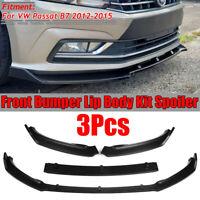 For VW Passat B7 2012-2015 Matte Front Bumper Lip Spoiler Splitter Cover Trim