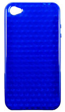 Dark Blue Clear Diamond Gel Case Cover For iPhone 4 4G 4S