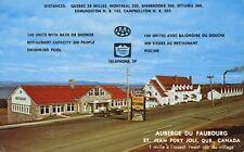 Auberge Du Faubourg St. Jean Port Joli QC Quebec Vintage Postcard D10c