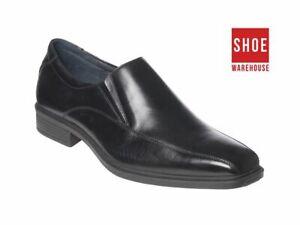 Hush Puppies MENTOR Black Mens Slip-on Dress/Formal Leather Shoes